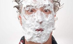 Cream in face