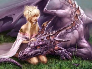 Dragon and girl