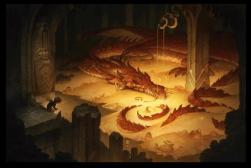 Dragon and gold