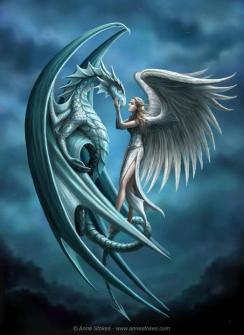 Dragon & angel