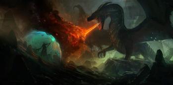 Dragon vs Necromancer