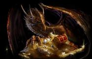 Dragon with treasure