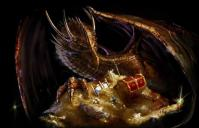 Dragon with treasure