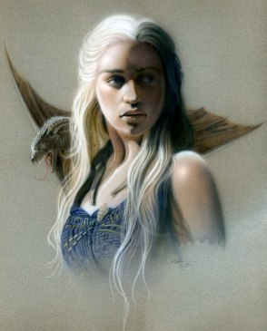 girl and dragon on shoulder