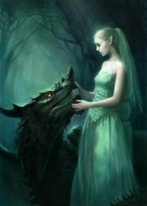 woman & dragon