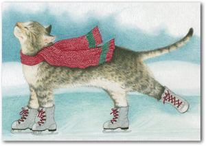 ice skating cat