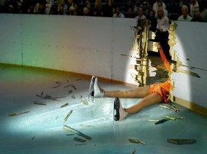 ice skating fail